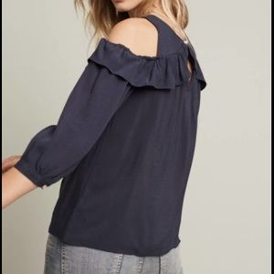 Anthropologie Maeve Brearly Open-shoulder Top